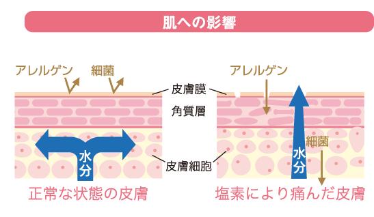 ビタレインシャワー 肌への影響
